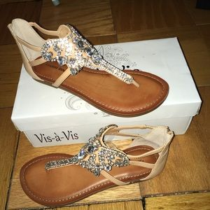 *New* Gianni Bini Embellished Jewel Sandal